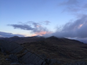 Changing weather over Dow Crag.