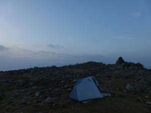 Swirl summit cairn.