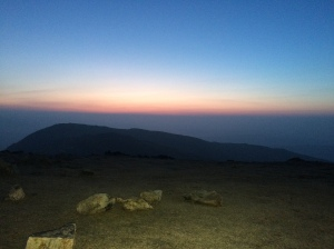 Approaching dawn,