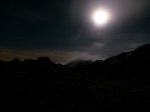 Clouds in the moonlight.