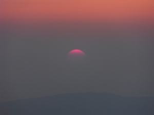 Last of the sun.