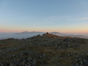 Morning light over the Scafells.