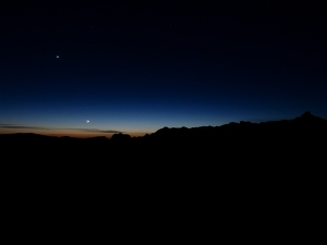 The Moon and Venus.