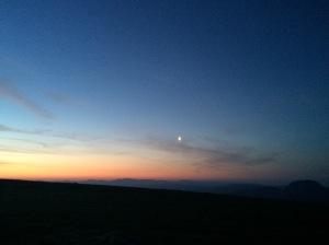 Approaching dawn.