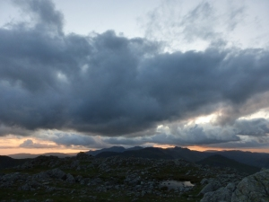 Angry skies over Scafells.