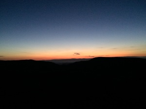Sunset from Ill Bell.