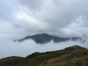 Wetherlam through the clouds.