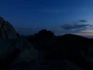Darkness falling over Castell Y Gwynt.