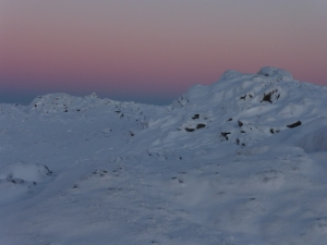 Cold morning on Wetherlam.