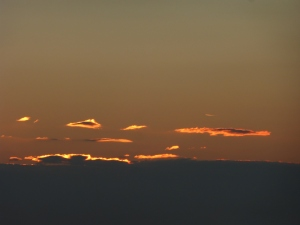 Approaching sunrise.